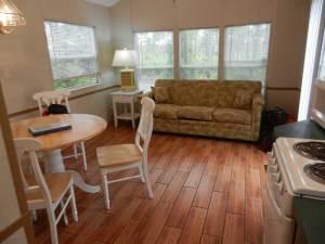 Jonathan Dickinson State Park cabin living room