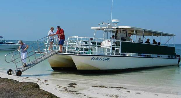 Boat to Anclote Key, a state park off Tarpon Springs