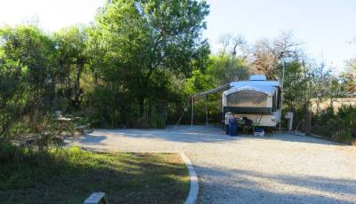 Newer Palmetto Ridge campsite at Myakka River State Park.