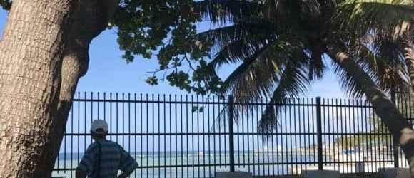 The West Martello garden has beautiful views onto Higgs Beach. (Photo: Bonnie Gross)