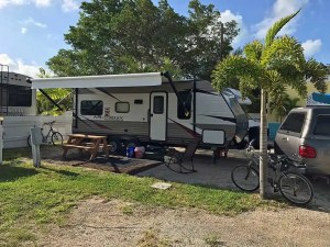 RV site at Leo's Campground in Key West