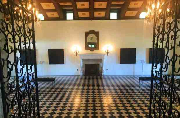 Interior of the great hall at the Deering Estate in Miami. (Photo Bonnie Gross)