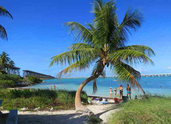 Bahia Honda Bridge and Calusa Beach in the Florida Keys.