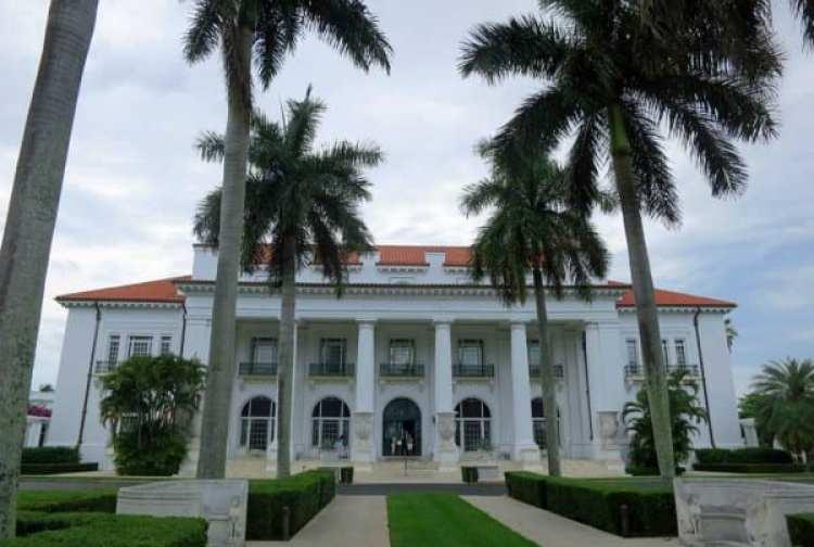 The Flagler Mansion, Whitehall, in Palm Beach.