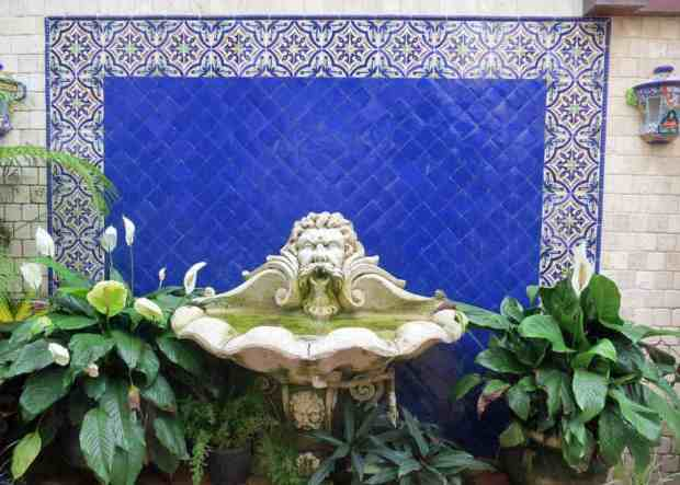 Fountain in a courtyard off Worth Avenue in Palm Beach.
