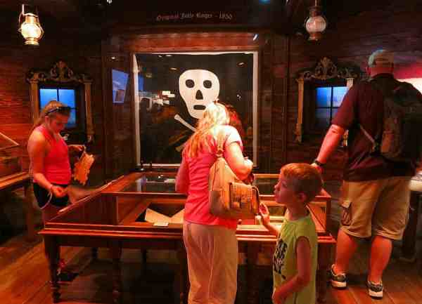 One of two known skull and crossbone flags is on display at the St. Augustine Pirate and Treasure Museum