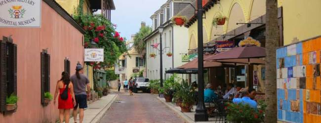 The oldest street in St. Augustine is Aviles Street, and it is paved with bricks, not cobblestones.