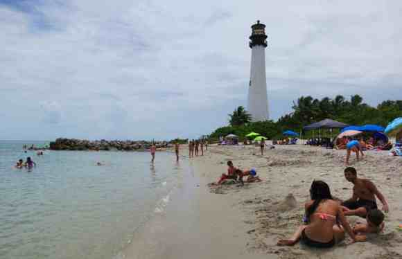 The beach at Cape Florida State Park on Key Biscayne is rated among the best in the nation.