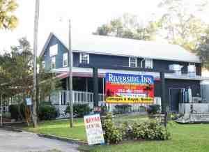 The historic Riverside Inn in Yankeetown