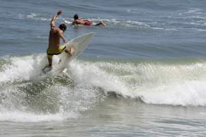 surfer at cocoa beach