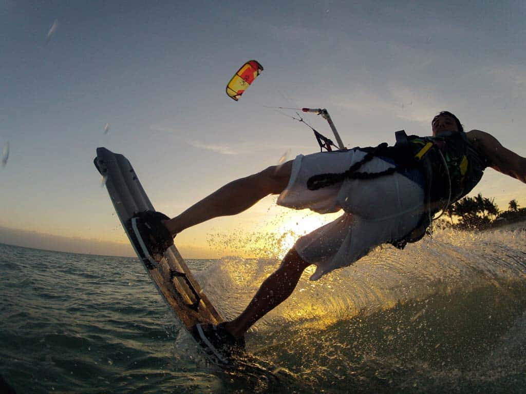 Kite-boarding at Curry Hammock State Park near Marathon