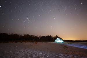 night camping ten thousand islands
