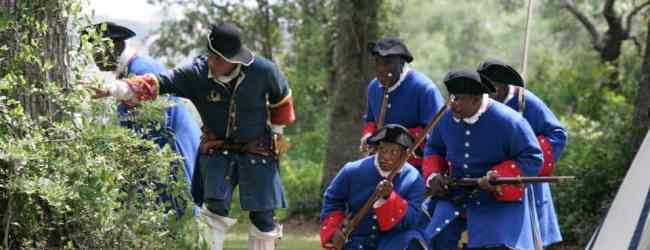 Re-enactment of the Battle of Fort Mose.