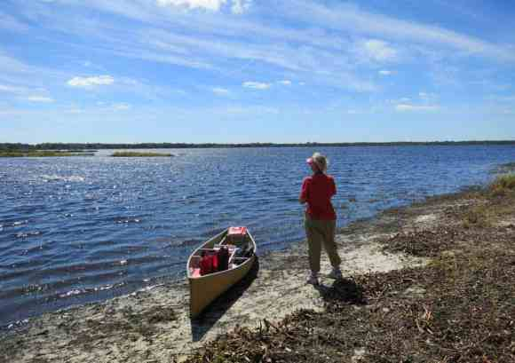 Lower Myakka Lake, inside the wilderness preserve, for which you need to get a permit at the ranger station.