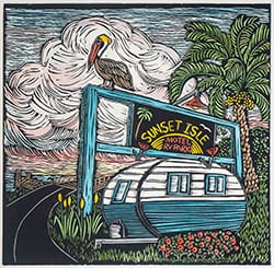 2016 Winner of the Design Contest for the 52nd Annual Cedar Key Art Festival Old Florida Celebration of the Arts by artist Diana Tonnessen.