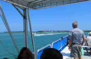 Boca Chita in the distance from the boat tour at Biscayne National Park.