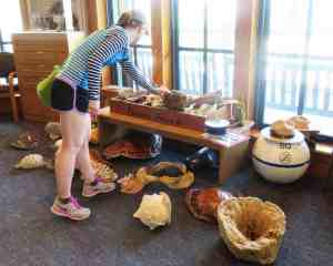 There are plenty of objects to touch in the visitor center at Biscayne National Park in Homestead. (Photo: Bonnie Gross)