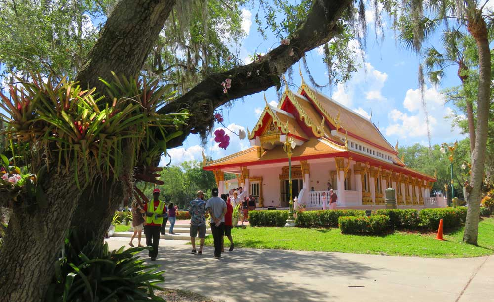 Tampa Buddhist temple: Sunday market for brunch in lovely outdoor setting