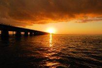 Sunset over the Seven Mile Bridge.