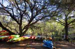 Canoe rental, campground and cabins at the Canoe Outpost on the Little Manatee River. (Photo: Bonnie Gross)