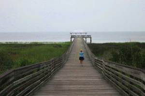 Lafayette Park in Apalachicola has a long pier extending into the bay. (Photo: Bonnie Gross)