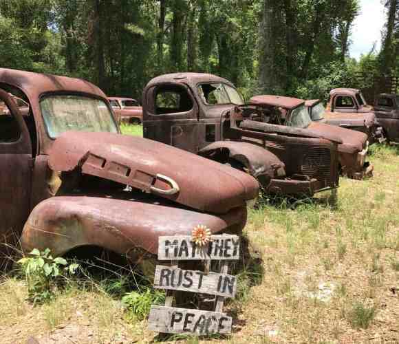 Harvey's Historic Truck Display is a field of rusting antique cars and trucks that people love to photograph. (Photo: Bonnie Gross)