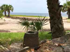 The ruins of an old hotel at a remote spot called Wakulla Beach. (Photo: Bonnie Gross)