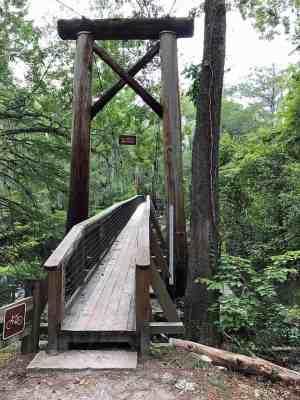 suspension bridge at O'Leno State Park, High Springs
