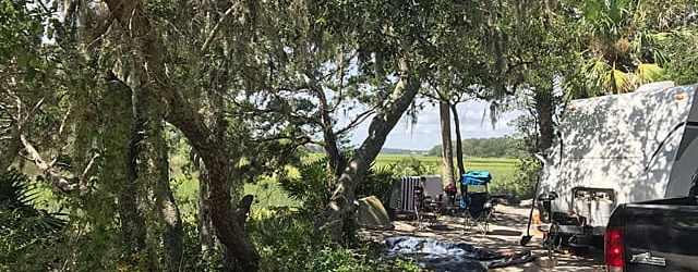 Marsh campsite