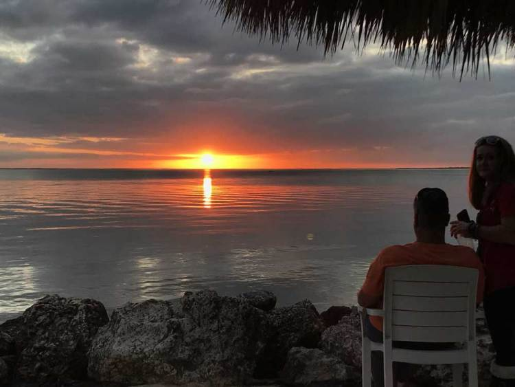 Gilbert's Resort, the first lodging once you cross into the Florida Keys, is a great place to watch a Florida Keys sunset. (Photo: Bonnie Gross)