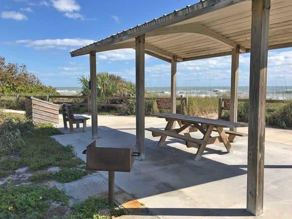 Picnic pavilion Avalon State Park Beach.