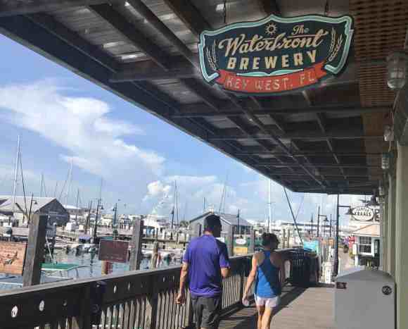 Waterfront Brewery in Key West has an unbeatable location. (Photo: Bonnie Gross)
