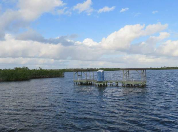 The only manmade structure you see from your houseboat in Everglades National Park are camping platforms for boaters. (Photo: David Blasco)