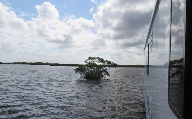 We loved the chanigng Florida sky as we cruiseinour houseboat in Everglades National Park (Photo: Bonnie Gross)
