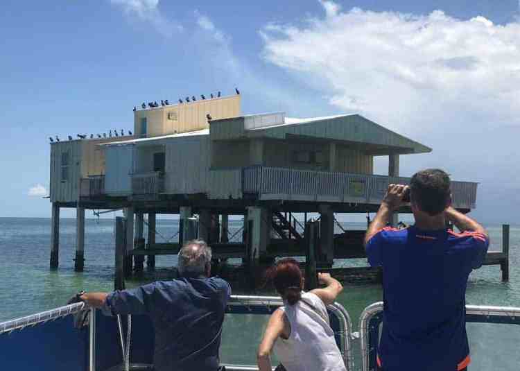 The Stiltsville Baldwin, Sessions House viewed from tour boat. (Photo: Bonnie Gross)