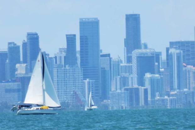 The Miami skyline from Stiltsville. (Photo: David Blasco)