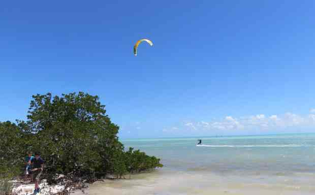 Windsurfers at Anne's Beach in Islamorada. (Photo: Bonnie Gross)