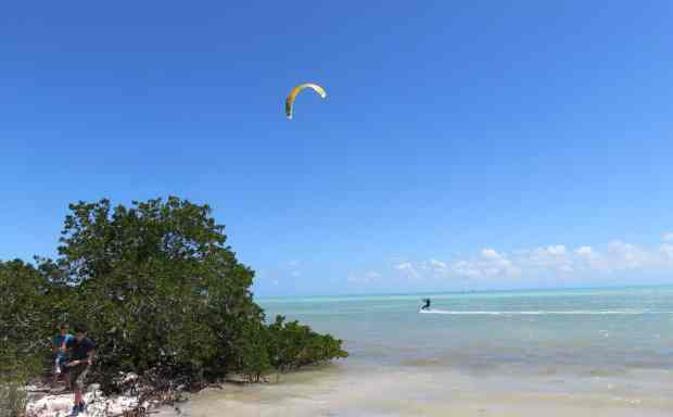 Windsurfers at Anne's Beach in Islamorada. (Photo: Bonnie Gross)