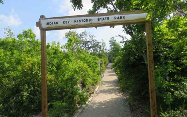 The paths at Indian Key follow the roadways of the 1830s town. (Photo: David Blasco)
