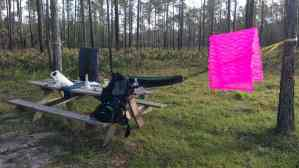 Airing out the sleeping gear at Colt Creek State Park