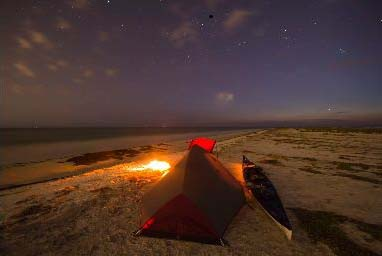 Camping on Anclote Key