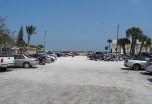 The parking lot at Archies on the beach in Fort Pierce