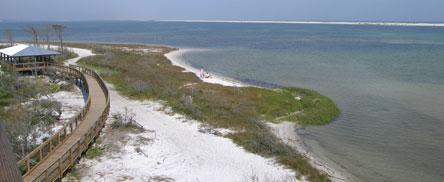 The beach at Big Lagoon State Park