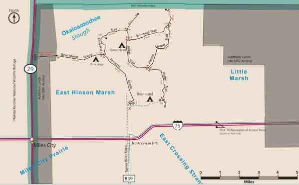 Big Cypress Bear Island trail map