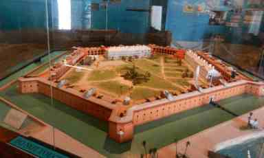 Scale model of Fort Jefferson in the •The Dry Tortugas and Key West Bight Interpretive Center.
