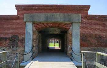 The entrance to Amelia Island's Fort Clinch.