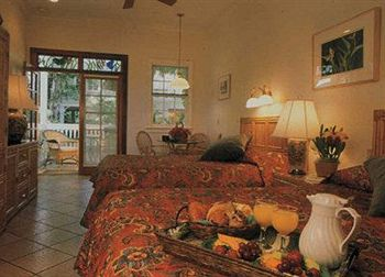 typical bedroom at the heron house, key west.