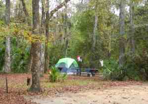 campsite at Juniper Springs, Ocala National Forest