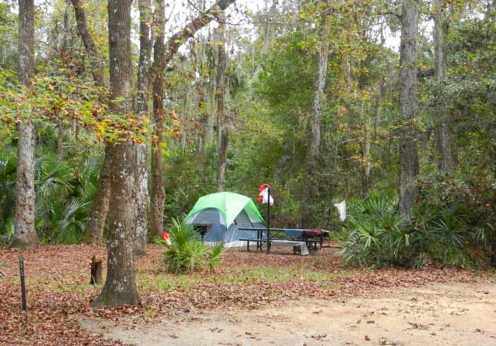 campsite at Juniper Springs, Ocala National Forest