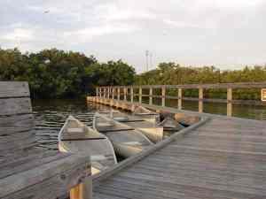 Canoe dock at Long Key State Park